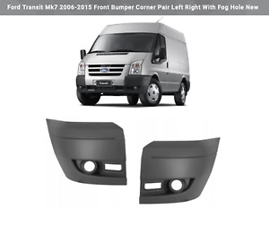 Ford Transit Mk7 2006-2015 Front Bumper Corner Pair Left Right With Fog Hole New