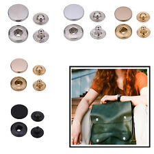 Press Studs S Spring 4 Parts Snap Fasteners Button Alloy Top Set DIY Bags Crafts