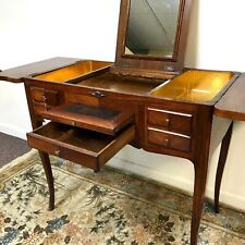Circa 1820s French Ladies Poudreuse Vanity Dressing Satin Wood Table