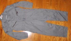 "VINTAGE Dickies Mens Size 42 Medium (38"" x 30"") Gray Mechanic Jumpsuit Coveralls"