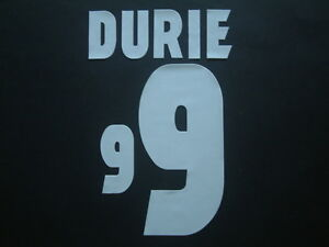 """DURIE NOME+NUMERO SCOZIA HOME OFFICIAL """"WORLD CUP 98 """" NAMESET"""
