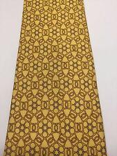 Hermes - Authentic 100% Silk TIE Necktie- Brand new YELLOW  Circles Motifs