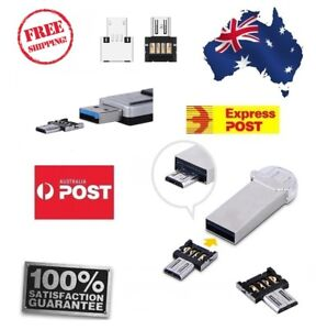 OTG to Micro USB Flash Drive U Disk Adapter Connector Metal For Tablet PC Phone