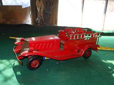 Vintage Girard FireTruck, Pressed Steel Toy Vehicle, Ladder, Marx