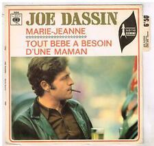 "Joe  DASSIN    Marie-Jeanne      avec languette     7""  SP 45 tours"