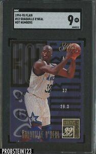 1994-95 Flair Hot Numbers Shaquille O'Neal Magic HOF SGC 9 MINT