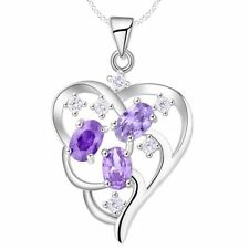 Amethyst CZ Costume Necklaces & Pendants