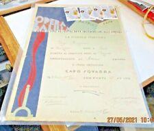 diploma PROMOZIONE CAPOSQUADRA PICCOLA ITALIANA OPERA BALILLA - ROMA 31/3/1935