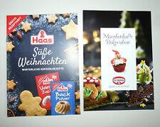 2 Backheftchen Dr. OETKER, HAAS -  Kekse, Weihnachtsrezepte