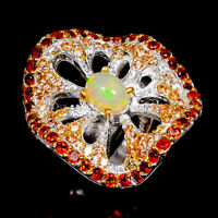 Opal Ring Silver 925 Sterling Top Quality gem AAA+ Size 7 /R143788