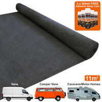 11m2 Van Lining Carpet Stretch Camper Motor Home Trim 5 Adhesive Kit Anthracite