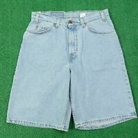 VTG DEADSTOCK LEVIS 560 LOOSE FIT USA MADE LIGHT WASH DENIM JEAN SHORTS 32 READ
