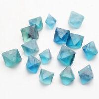 Natural Polishing Blue Fluorite Crystal Rock Specimen Octahedron Quartz Collect