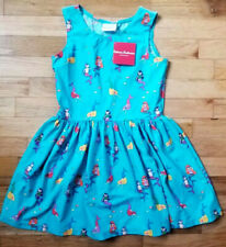 NWT HANNA ANDERSSON SLIP OVER SWIM DRESS COVER-UP BLUE MERMAIDS 100 4 NEW!!