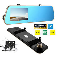 "Full HD 4.3"" Dual Lens Camera Car DVR Dash Cam Video Recorder GPS Night Vision"