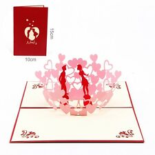 3D Pop Up Greeting Cards Wedding Valentines Invitations Anniversary Personalised