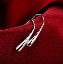 Womens 925 Sterling Silver Elegant Teardrop Charm Fashion Earrings #E18