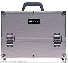 Silver Makeup Case Aluminum Hair Stylist Cosmetology Carrier Suitcase Dryer Skin