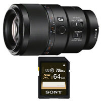 Sony 90mm f/2.8 Macro G OSS Lens & Sony 64 GB SD Card