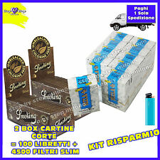 4500 filtri RIZLA SLIM 6mm 3 BOX + 6000 Cartine SMOKING BROWN senza cloro 2 BOX