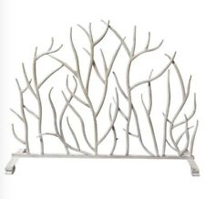 Neiman Marcus White Twig Branch Fireplace Screen FIRESCREEN HORCHOW Also i Gold
