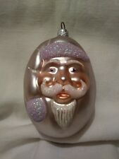 "Patricia Breen Christmas Ornament Jelly Bean Santa Lavender Coloration. 4"""