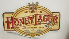 MICHELOB  HONEY  LAGER   BEER SIGN  LARGE TIN