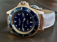 DIVE WATCH SUBMARINER 42mm 200 METERS BY GERMAN BRAND Eichmuller Rose Gold