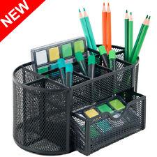 Pen Pencil Holder Office Desk Supplies Organizer Desktop Metal Mesh Storage New