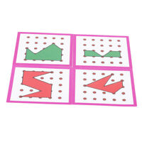 Rubber Tie Puzzle Game DIY Jigsaw Button Art Toys Pegboard Set Preschool Game CO