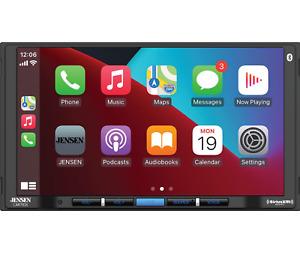 "CAR710X Jensen 7"" In Dash Media Receiver CarPlay & Android Auto, Bluetooth No CD"
