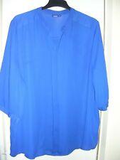🌺wie NEU! hübsche Tunika-Bluse XL/XXL/48/50 royal-blau leicht transparent