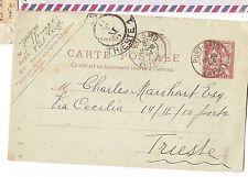 Egypt French Offices Port Said 1904 PC to Trieste with message (ban)