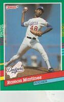 FREE SHIPPING-MINT-1991 Donruss #557 Ramon Martinez Los Angeles Dodgers Baseball