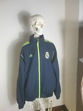 Real Madrid Adidas Vintage Tracksuit Zip Up Top Blue XXL Made In Germany