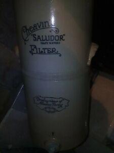 water filter Saludor  FILTRO ACQUA CERAMICA CON RUBINETTO SANIFICAZIONE antico