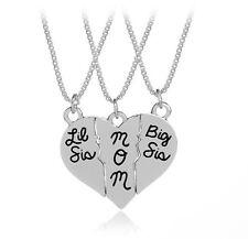 Girl Heart Split Jigsaw big little SISTER Mom Mum Necklace sisterhood sibling