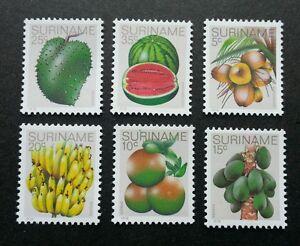 Suriname Tropical Fruits 1978 Banana Papaya Watermelon Coconut (stamp) MNH