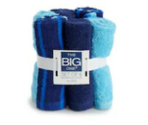 The Big One 6 Pack Soft Terry Cotton Wash Cloths Rags Multi Color Washcloths