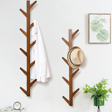 1x Soild Wooden Coat Rack Branch Wall Shelf Tree Shape Scarf Hat Holder Hanger