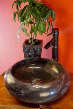 Aufsatz Waschbecken schwarzer Marmor Waschschale Aufsatzbecken Naturstein Stein