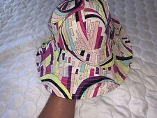 EMILIO PUCCI HAT Wide Brim Floppy Beach Hat Abstract Print BNWT