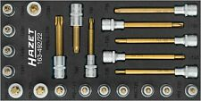 HAZET TORX® screwdriver socket set 163-492/22 Square, hollow 12.5 mm (1/2 inch