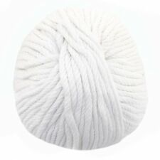 Bamboo Cotton Chunky Yarn - Cotton White - 2 Skeins