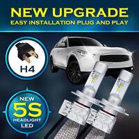 80W LED Headlight H4 HB2 9003 Hi/low beams 6000K Bulbs Conversion Lamp White