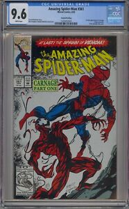 AMAZING SPIDER-MAN #361 CGC 9.6 1ST CARNAGE SECOND PRINTING WHITE PAGES