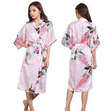 Promotional Bride Long Women Kimono Robe satin silk Night dressing Gown 2018NEW