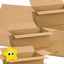 "100 x 12X9X4 A4 S/W CARDBOARD MAILING SHIPPING POSTAGE BOXES 12""X9""X4"""