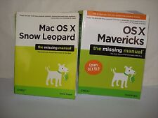 LOT OF 2 MAC OS X SNOW LEOPARD & OS X MAVERICKS: THE MISSING MANUALS BY POGUE