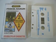 PROCOL HARUM SHINE ON BRIGHTLY + A SALTY DOG 2 ALBUMS ON CASSETTE TAPE CASTLE UK